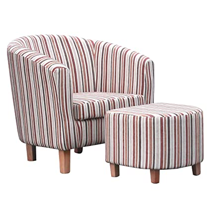 Shankar Enterprises rayas Tela Juego de sillón, 72x 74x 68cm, color dorado envejecido