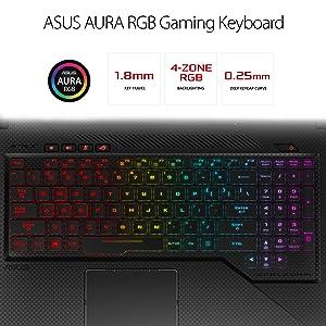 ASUS ROG Strix GL703VM Scar Edition 17.3 120Hz Gaming Laptop, GTX 1060 6GB, Intel Core i7-7700HQ 2.8 GHz, 16GB DDR4 RAM, 256GB PCIe SSD + 1TB SSHD, RGB Keyboard (Tamaño: 17.3 inch)