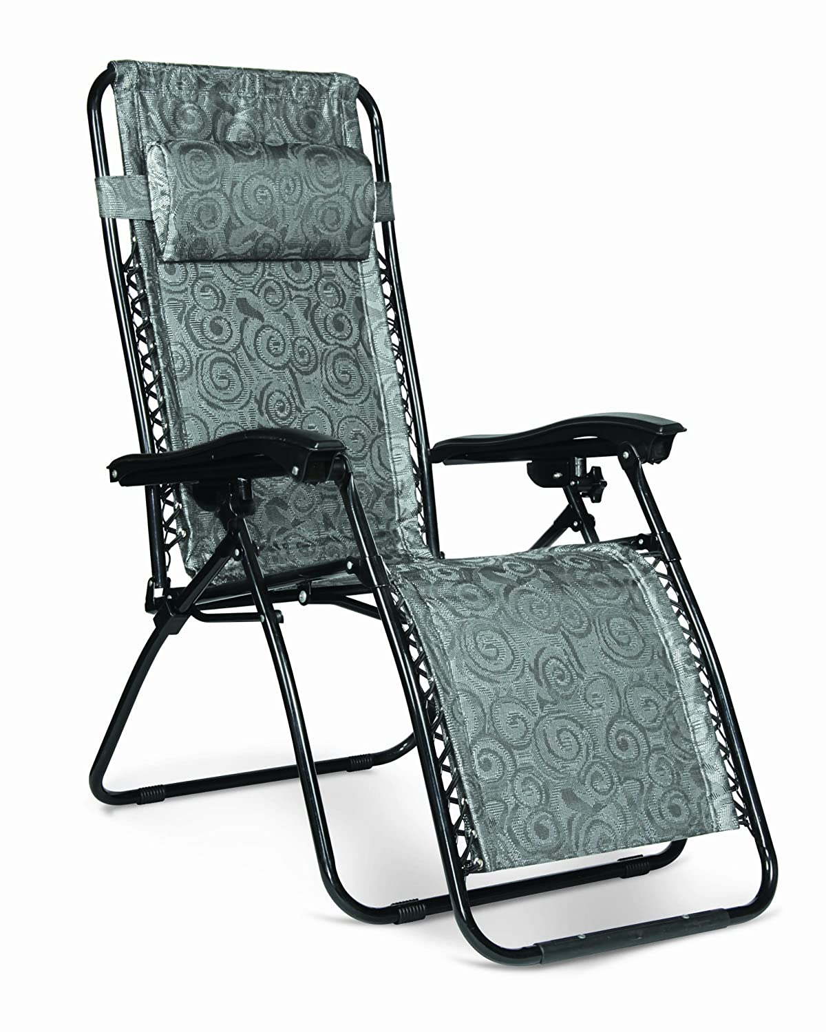 Camco 51810 Black Swirl Zero Gravity Recliner $37.99