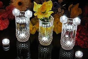 PK Green 10 Luces LED a prueba de agua, sumergibles - blanco   Más información y revisión del cliente