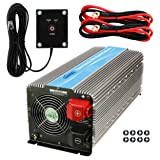 GIANDEL 5000W Heavy Duty Power Inverter 12V DC to 110V 120V AC with Remote Control and 4 AC Outlets & USB Port for RV Truck Boat (Color: 5000W, Tamaño: 5000Watt inverter)