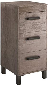 Cygnus Olympia Bath - Bathroom Side Cabinet with 3 Drawers Metal of Auto-Close Mechanism Brillo lacado Roble vintage