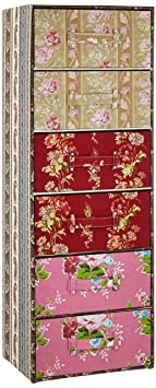 Kare Cabinet Patchwork 6-Drawers, Red