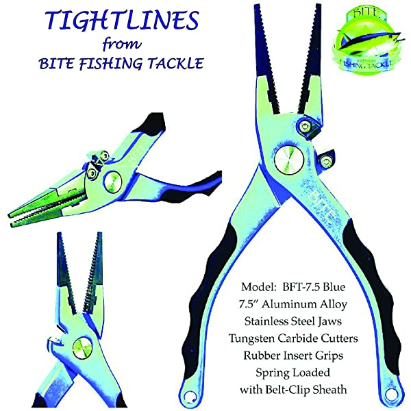 BITE Professional Aluminum Saltwater Fishing Pliers – Strong And Comfortable