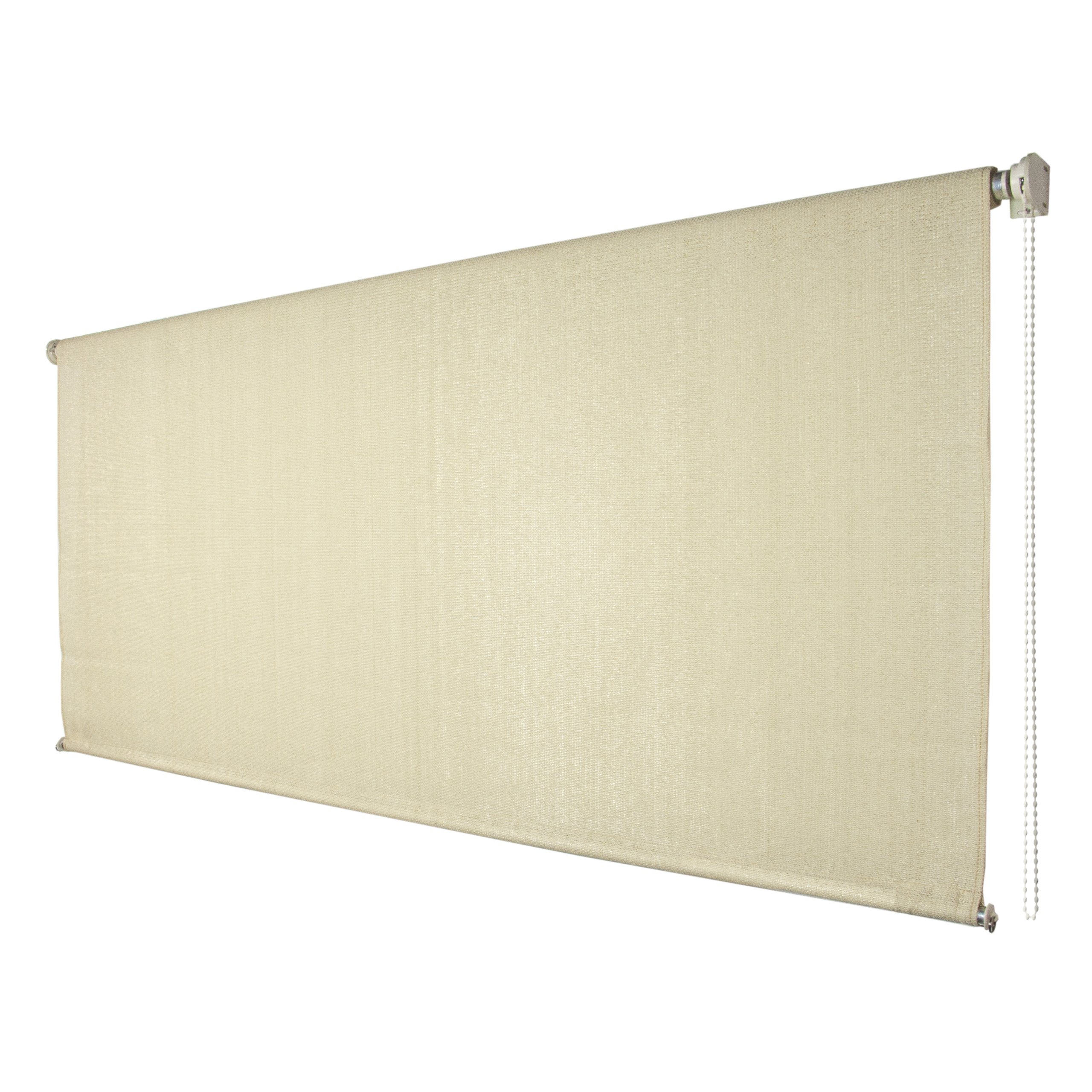 Coolaroo exterior roller shade 6 by 6 feet sesame ebay for Exterior roller shade