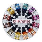 Dr. Ph. Martin's 800872-XXX Bombay India Ink Bottles, 1.0 oz, Set of 12 (Set 2) (Color: Set 2, Tamaño: 1 oz)
