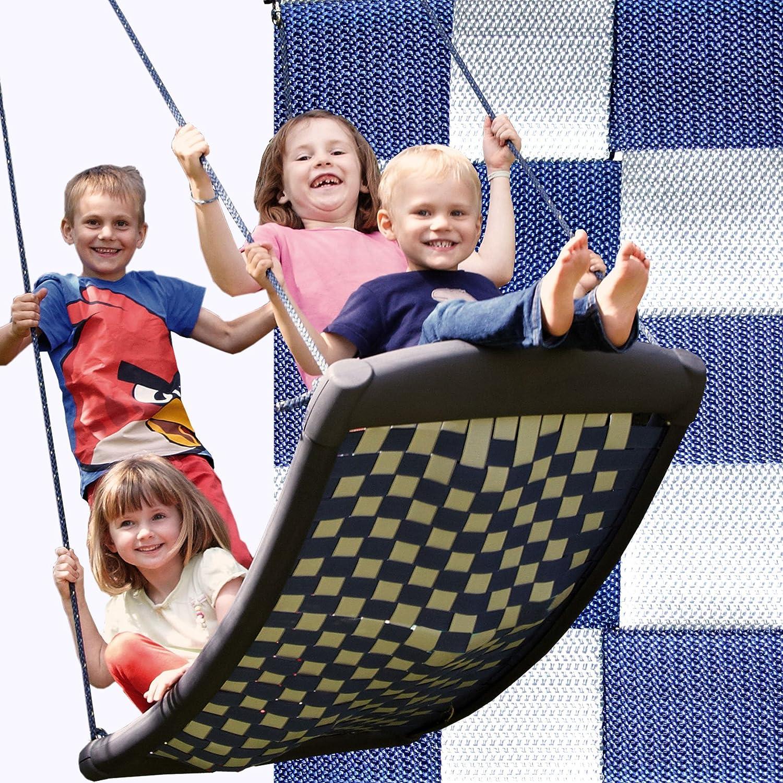 Große Mehrkindschaukel STANDARD weiß/blau für 4 Kinder, 136 x 66 cm (SPR.L.101) bestellen
