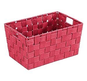 Wenko 20384100 Adria Corbeille - Cesta para sales de baño, color rojo   Revisión del cliente
