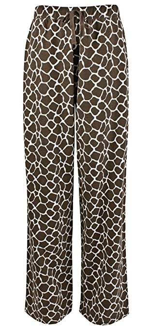Leisureland Women's Cotton Knit Pajama Sleepwear Lounge Pants Giraffe Print