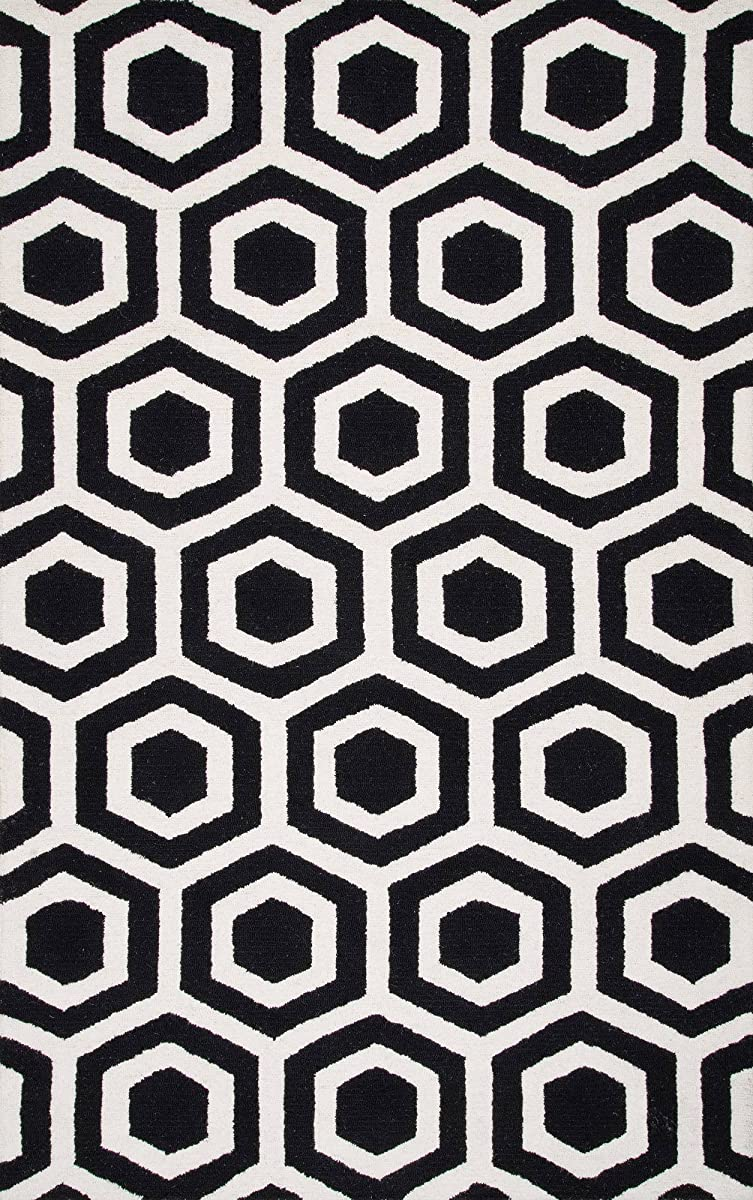nuLOOM MTHM04A Hand Tufted Honeycomb Mayra Rug, 4 x 6, Black