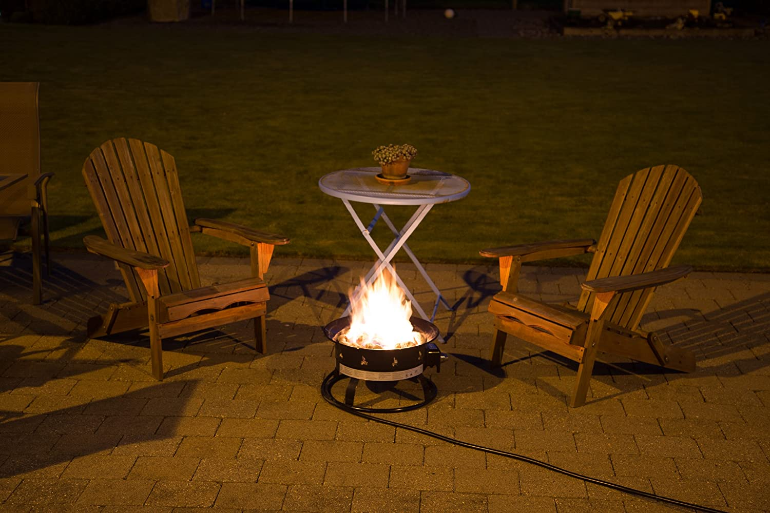 Heininger 5995 58,000 BTU Portable Propane Outdoor Fire ...