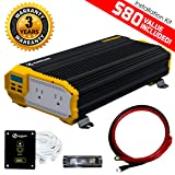 KRIËGER 2000 Watt 12V Power Inverter, Dual 110V AC outlets, Automotive back up power supply for refrigerators, microwaves, coffee makers, Chainsaws, vacuums, power tools. MET approved to UL and CSA