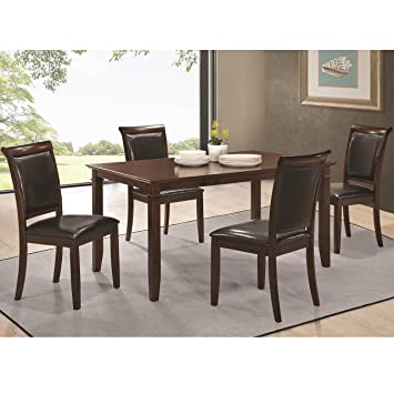 Benton Table and Chair Set with Tapered Feet