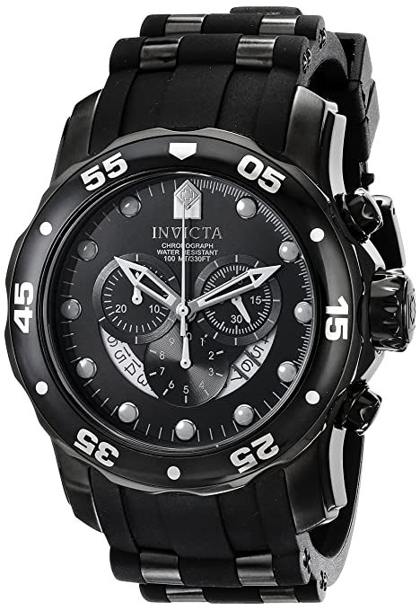 Invicta-Men-s-6986-Pro-Diver-Collection-Chronograph-Black-Dial-Black-Polyurethane-Watch