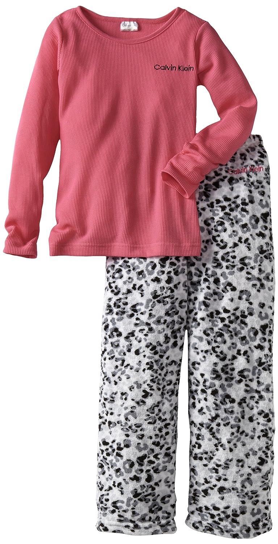 Calvin Klein Girls 7-16 Ck Two Piece Thermal Sleep Set