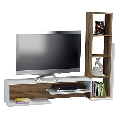 Mueble Salon, Comedor para television, Mesa de television BELLA en color Blanco de Alphamoebel 2008