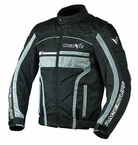 NERVE 1511071104_07 Race Stuff Blouson Moto, Noir, Taille : 3XL