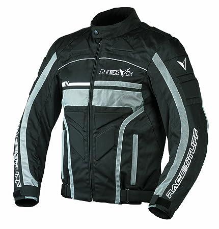 NERVE 1511071104_03 Race Stuff Blouson Moto, Noir, Taille : M