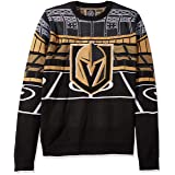 FOCO NHL Vegas Golden Knights Mens Light Up Bluetooth Speaker Sweaterlight Up Bluetooth Speaker Sweater, Team Color, Large
