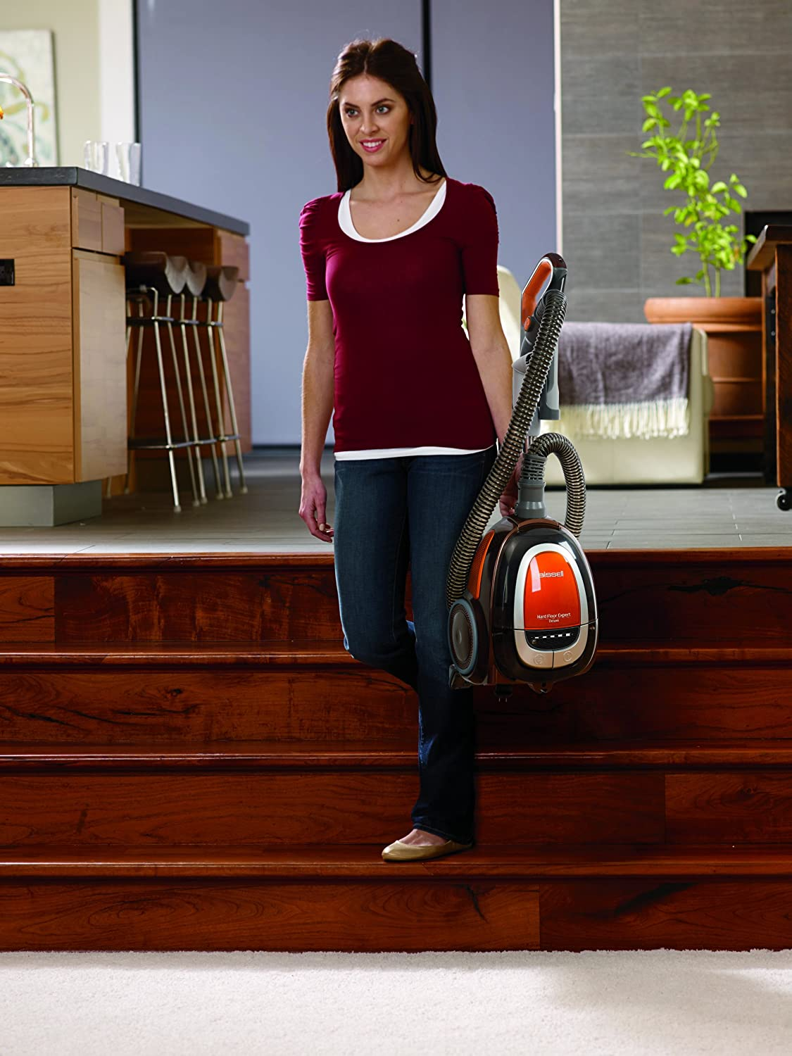 The Bissell 1161 costs just over $100 and is very good on hardwood floors.
