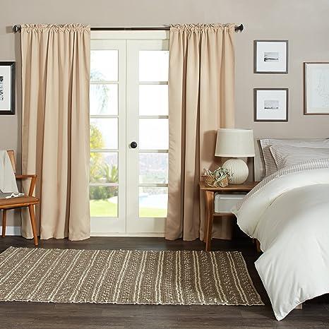 pinzon verdunkelungsvorh nge 142 x 213 cm beige khaki. Black Bedroom Furniture Sets. Home Design Ideas