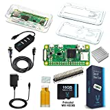 Vilros Raspberry Pi Zero W Complete Starter Kit-Premium Clear Case Edition-Includes Pi Zero W and 7 Essential Accessories