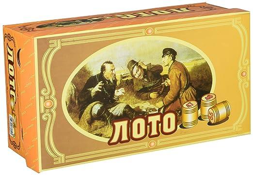 Loto russe jeu avec figurines en bois