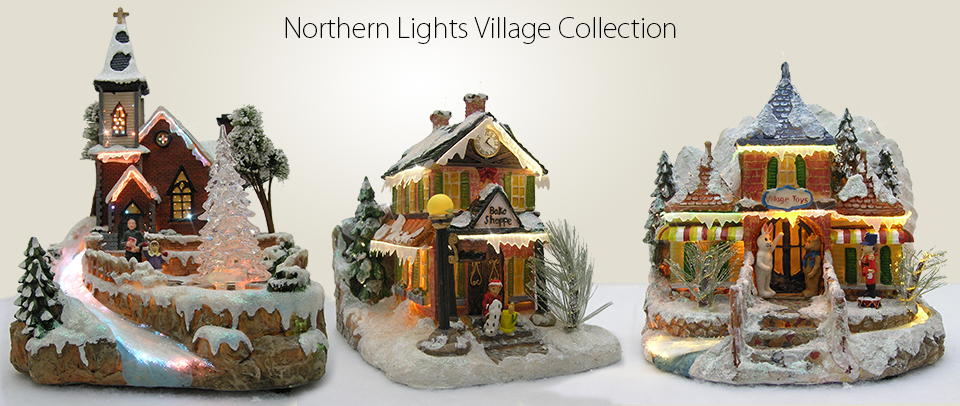 relevant gifts home and garden decor gifts shop christmas LED colorchanging fiber optic houses