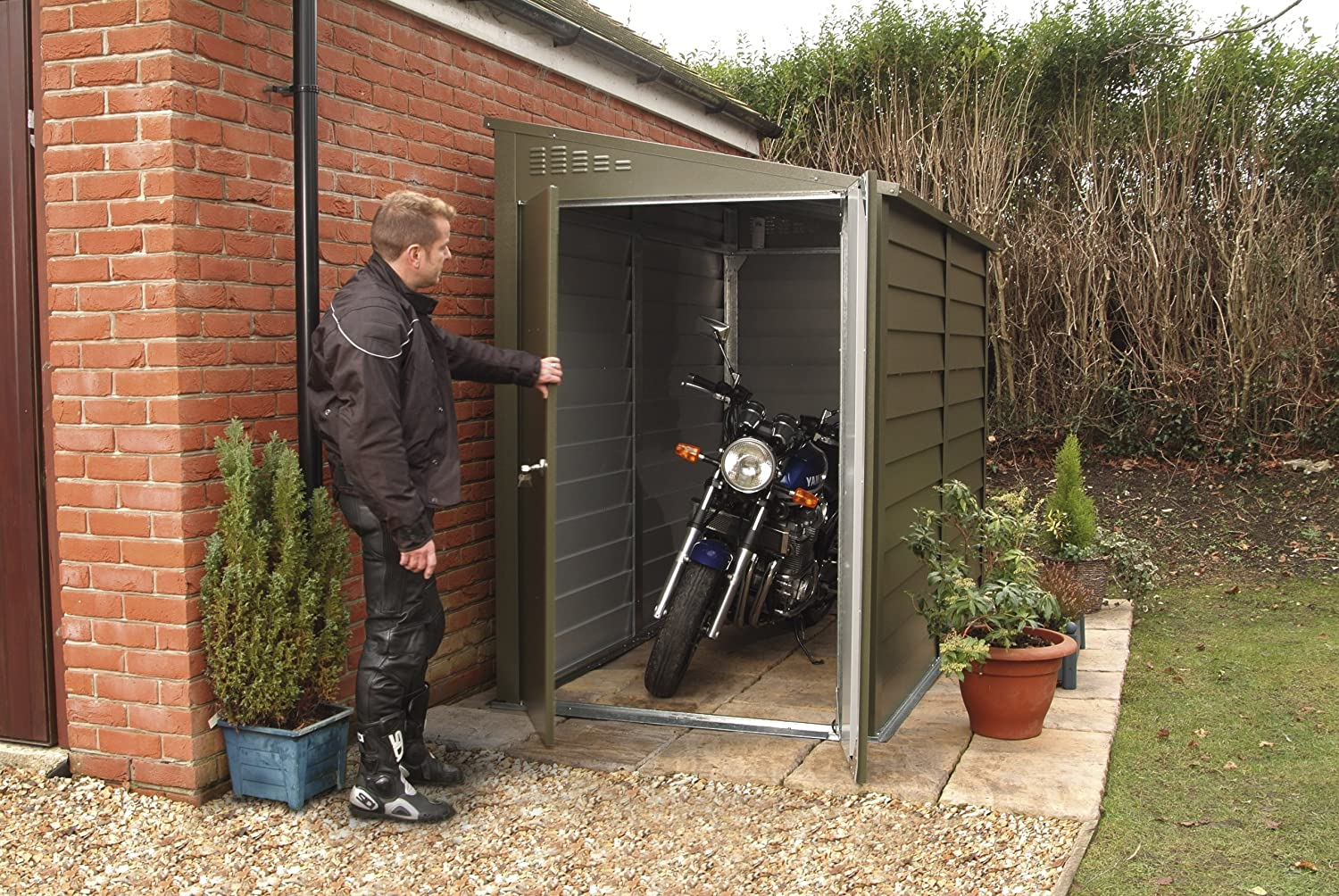 Costs for detached garage man cave page 2 adventure rider for Garden shed garage