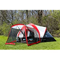 Tahoe Gear Zion 9-Person Family Tent with Screen Porch - Red
