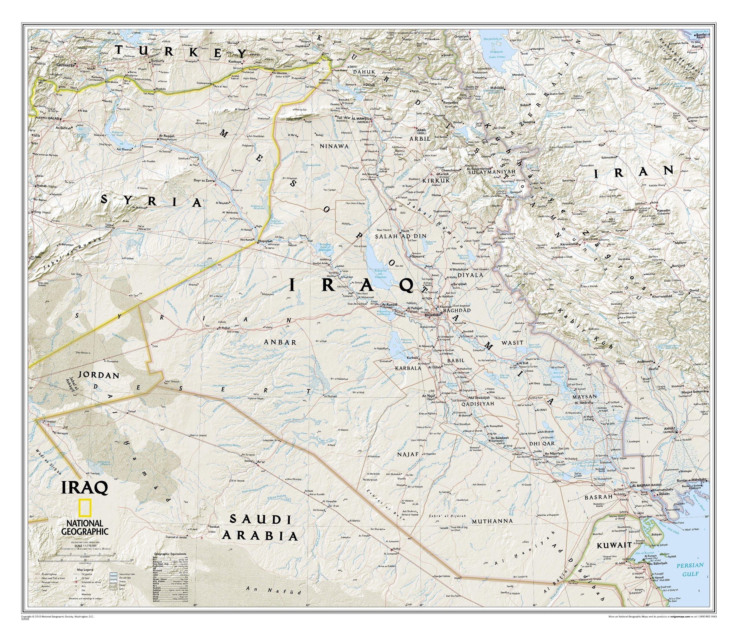 iraq a political map