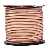 Mandala Crafts 100 Yards 2.65mm Wide Jewelry Making Flat Micro Fiber Lace Faux Suede Leather Cord (Blush) (Color: Blush)