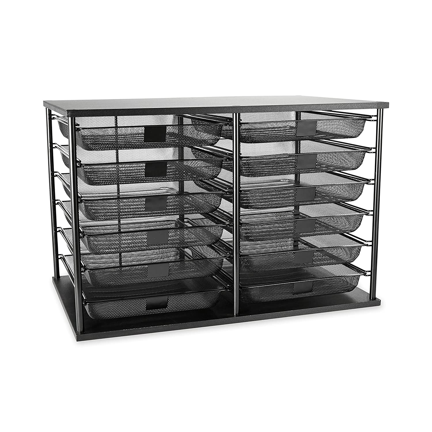 Rubbermaid file organizer tray desk mesh drawer storage - Desk drawer organizer trays ...