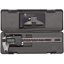 "Standard Gage 00534020P Digital Caliper, Stainless Steel, Battery Powered, Inch/Metric, 0-6"" Range, +/-0.001"" Accuracy, 0.0005"" Resolution, Meets DIN 862 Specifications"