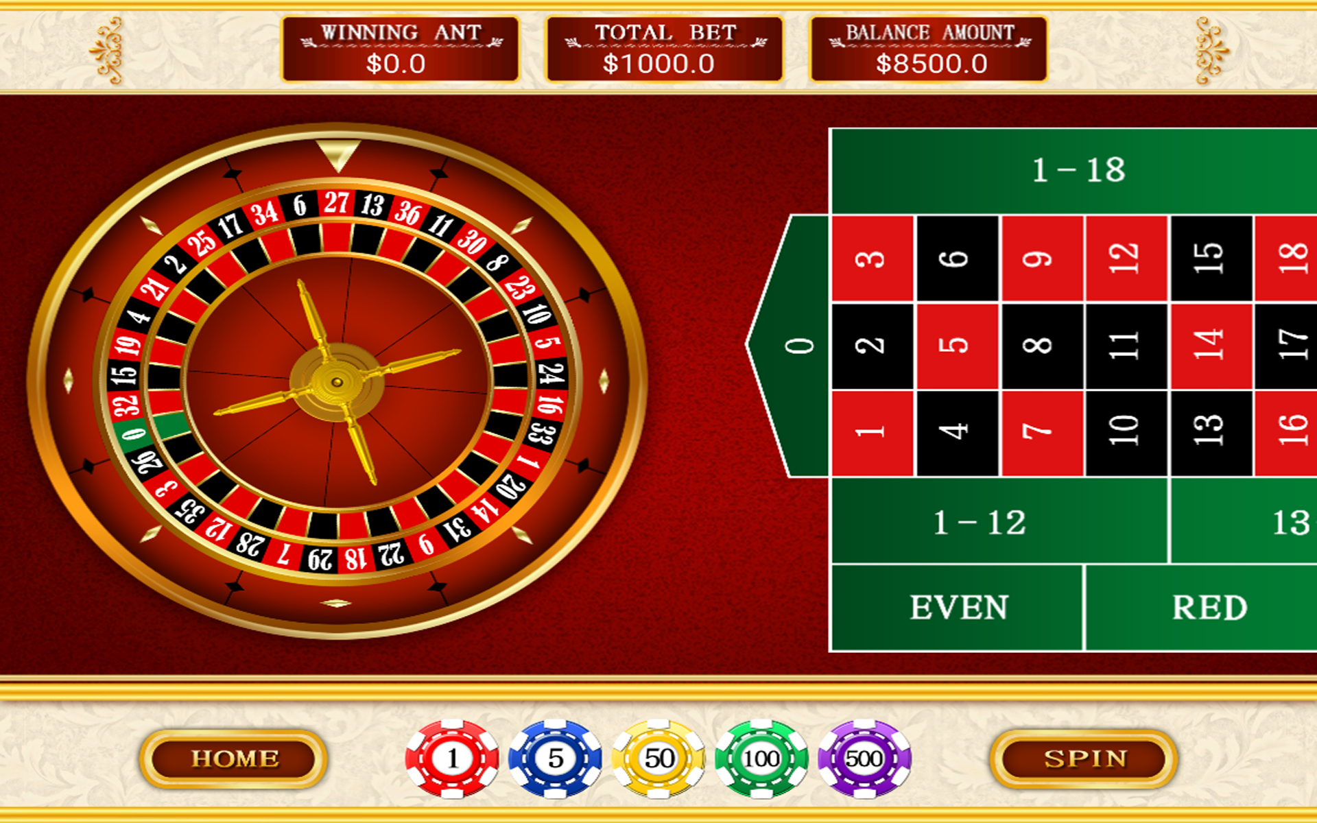 Roulette game buy online