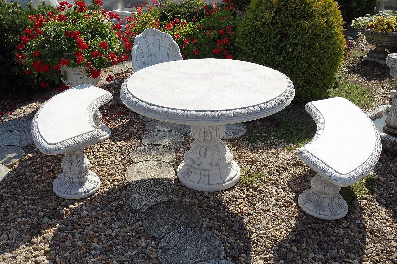 Gartenmöbel großer Tisch aus Steinguss, frostfest