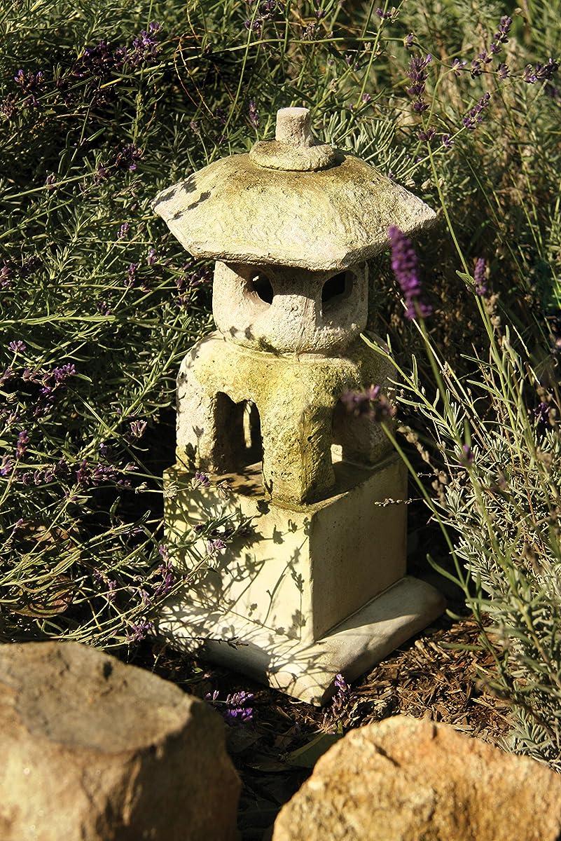 """Orlandi Statuary Lantern House Statue, 16"""", White Moss"""