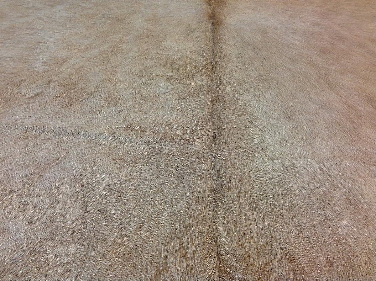 Tango Cowhides Cowhide Rug, Butter Cream/White