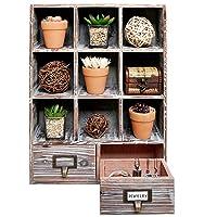 Rustic Dark Brown Wood Shadow Box