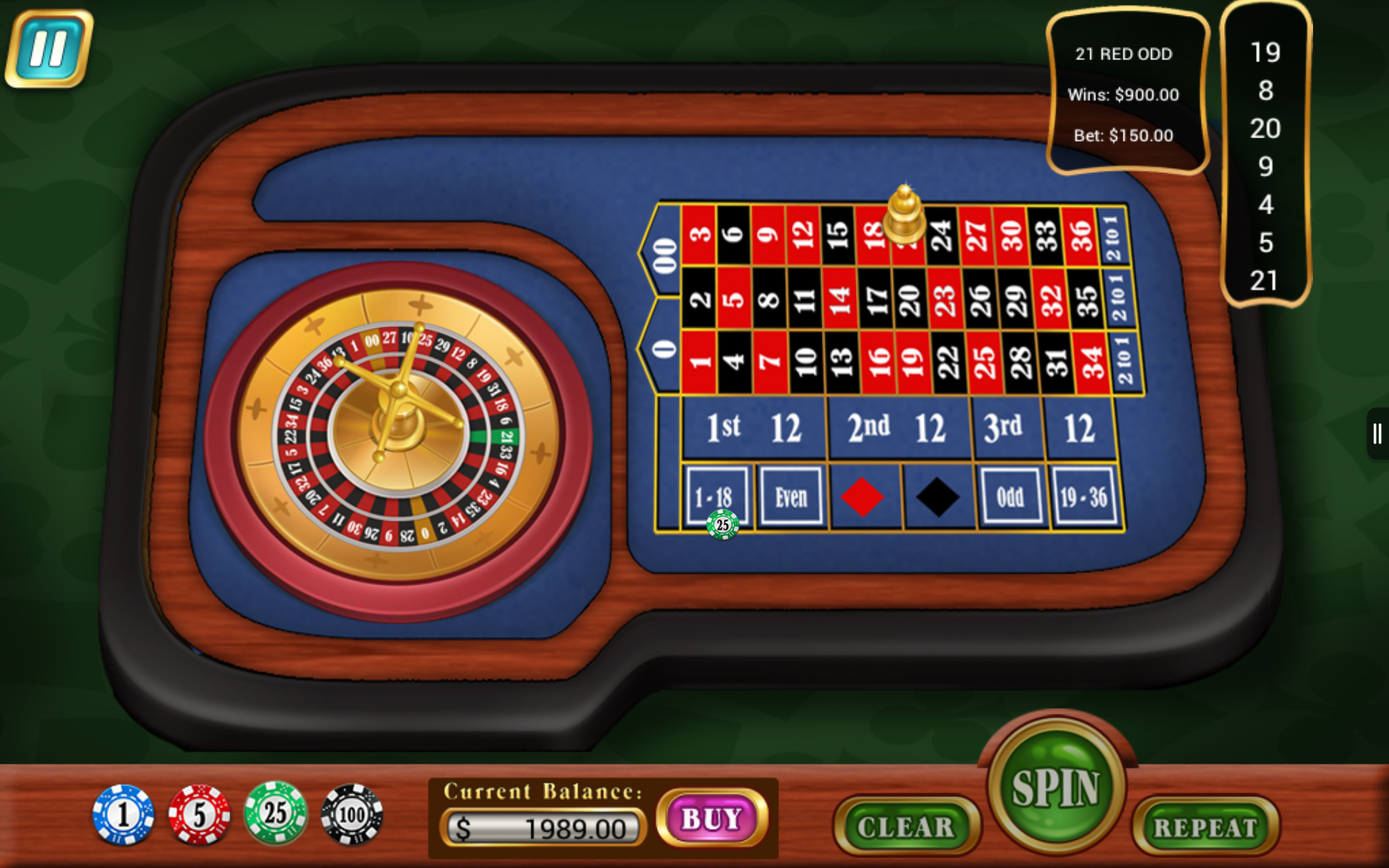 Mini roulette table croupier appstore for android - Table tv a roulettes ...