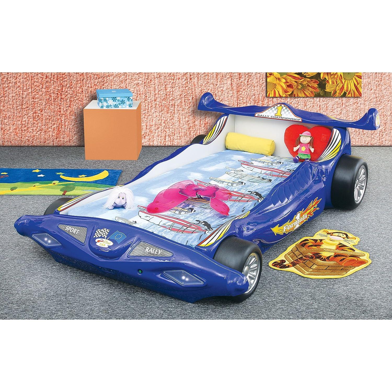 Kinderbett Kindermöbel Auto Formel 1 (blau)