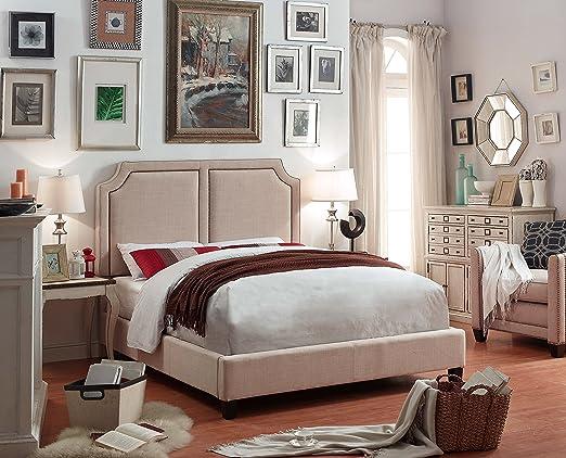 Millbury Home Sanibel Beige Upholstery Platform Bed (Queen Size)