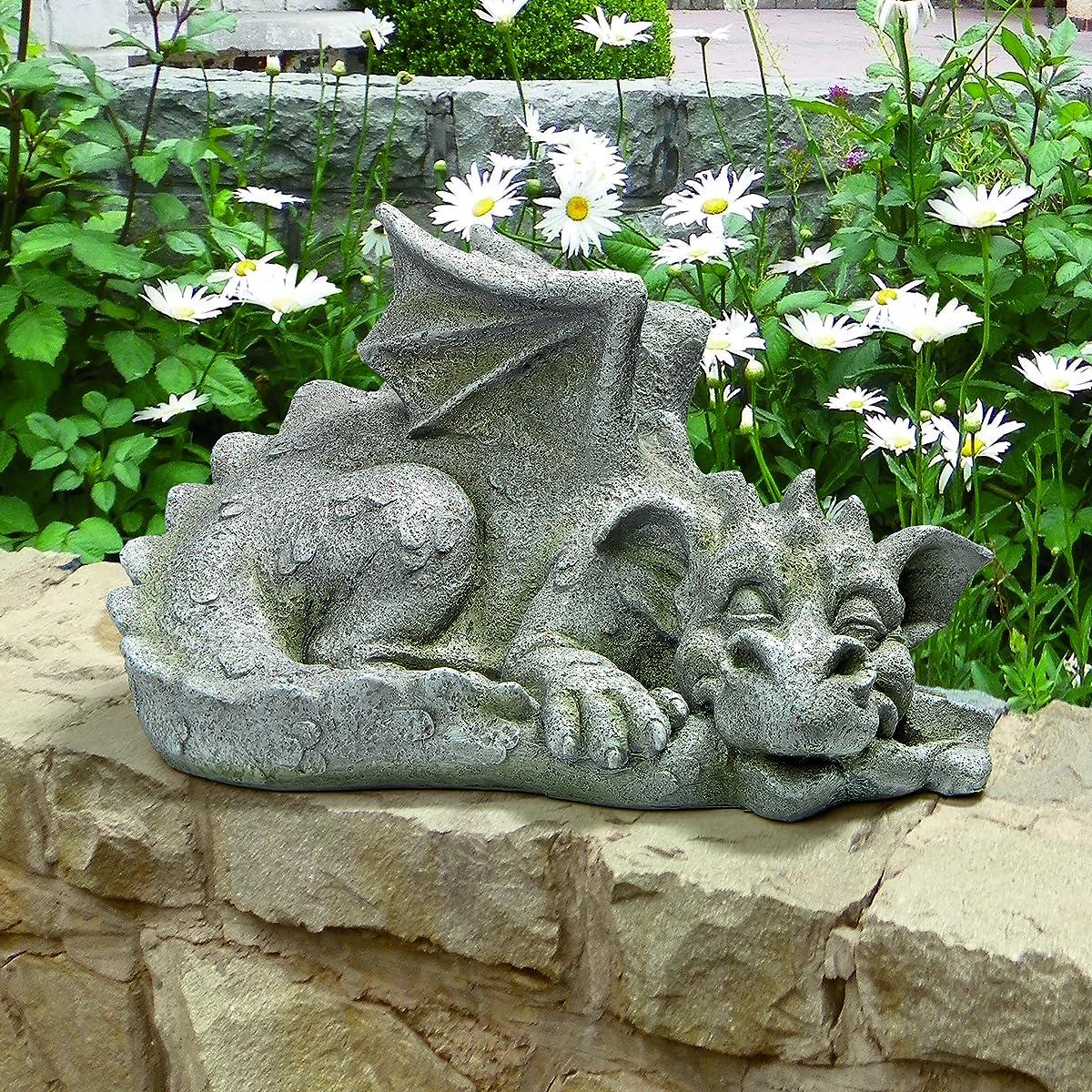Design Toscano Blushing Babel The Bashful Dragon Statue, Medium