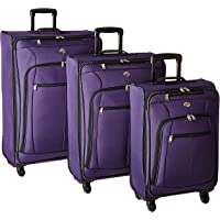 American Tourister Pop Plus 3-Piece Nested Spinner Luggage Set (Purple)