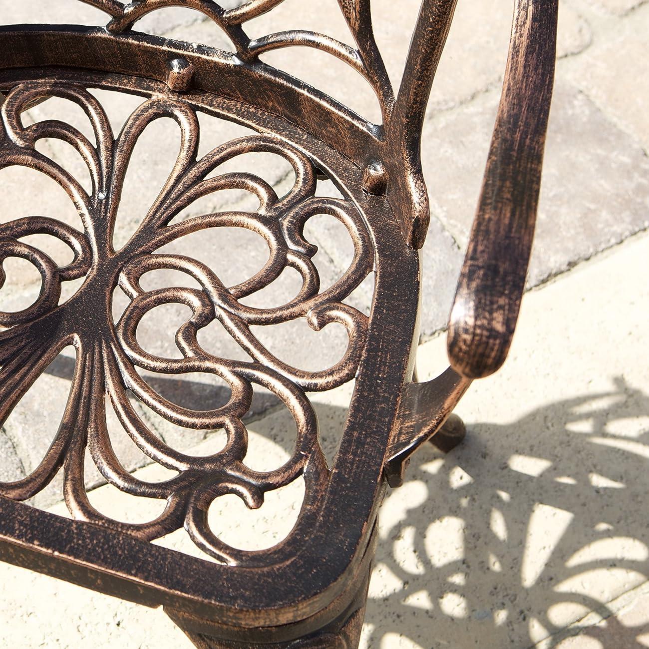 Gardena Cast Aluminum Outdoor Dining Set (Set of 7) 4