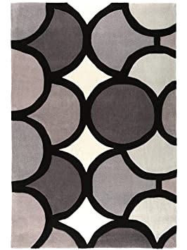 4 benuta tapis de salon salon moderne harlequin bubble pas cher cher gris 160x230 cm. Black Bedroom Furniture Sets. Home Design Ideas