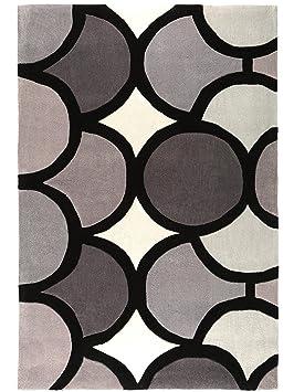 4 benuta tapis de salon salon moderne harlequin bubble pas cher cher gris 160x230 cm. Black Bedroom Furniture Sets. Home Design Ideas