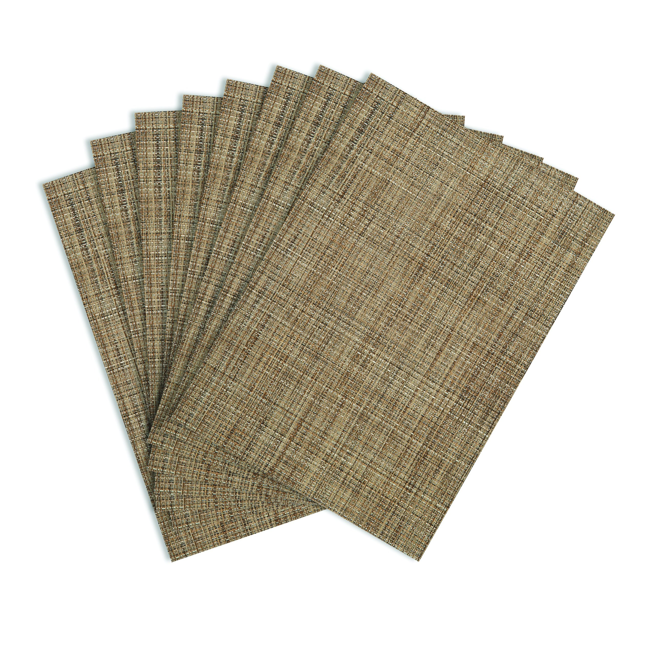 Table Protected Tweed Woven Vinyl Placemats Durable Home