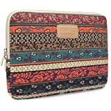 Kinmac New Bohemian Canvas Neoprene Waterproof 14 inch Laptop Sleeve case bag for Macbook Pro 15 and 14.0 inch Dell Hp Lenovo Sony Toshiba Ausa Acer Samsung laptop (Color: New Bohemian, Tamaño: 14 inch & Macbook Pro 15 Retina)
