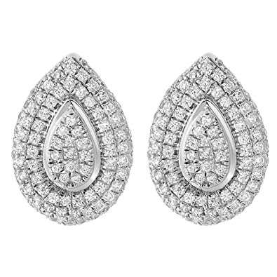 Orphelia Jewelry ZO-5796  Cubic Zirconia Sterling Silver 925 Stud Earrings
